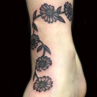 flower ankle band